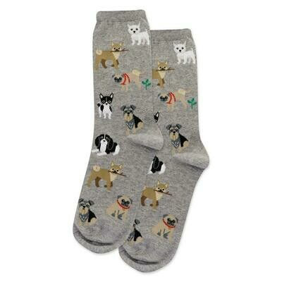 Women's Gray Dogs Of The World Socks
