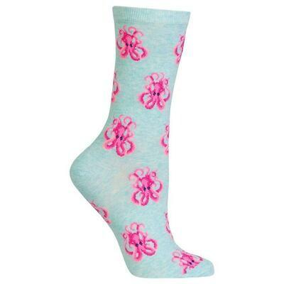 Women's Mint Octopus Socks