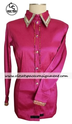 ​'Wicked Crystals by Christie' Fuchsia All Day Shirt - NEW