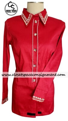 ​'Wicked Crystals by Christie' Red All Day Shirt - NEW