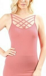Rose Criss Cross Tank