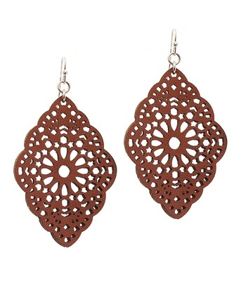 Leather Filigree Earring