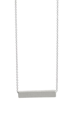 Silver Metal Bar Necklace