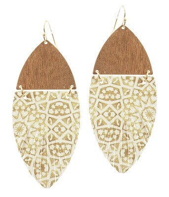 Gold Moroccan Fringe Oval Earring