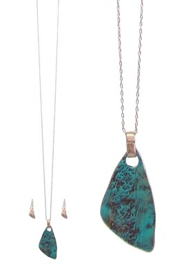 Patina Pendant Necklace