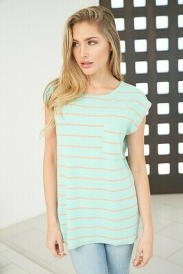 Mint Stripe Tee
