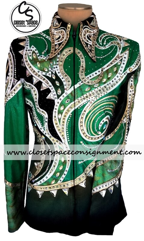 ​'Carolina Beverly Hills' Black, Emerald, White & Gold Jacket