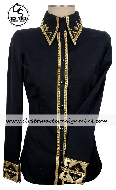 ​'Signature Styles' Black & Gold Shirt - NEW