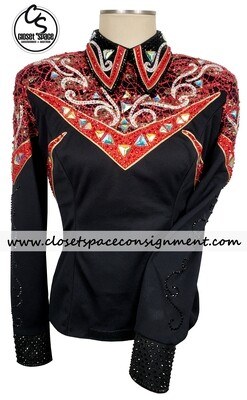 ​'Show Grace' Black & Red Top