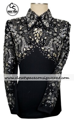 ​'Dardar8 Designs' Black & Silver Top
