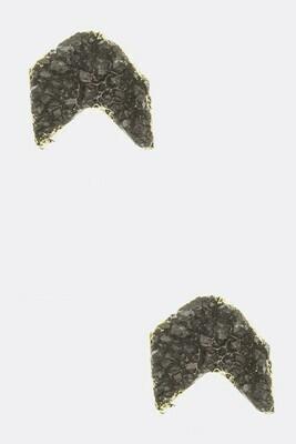 Hematite Arrow Stud