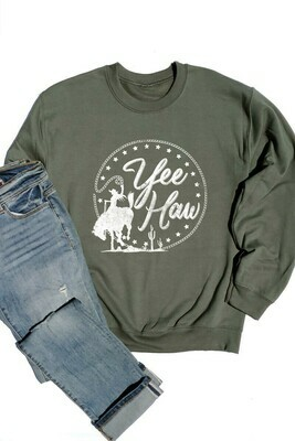 Green 'Yee Haw' Sweatshirt