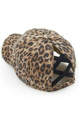 Leopard CC Criss Cross Pony Cap