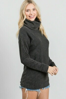 Vintage Black Cowl Neck Sweater