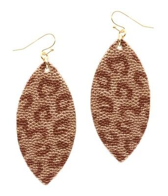 Metallic Leopard Oval Earrings