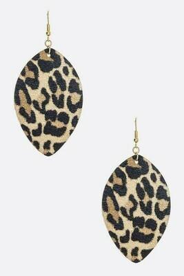 Leopard  Teardrop Earring