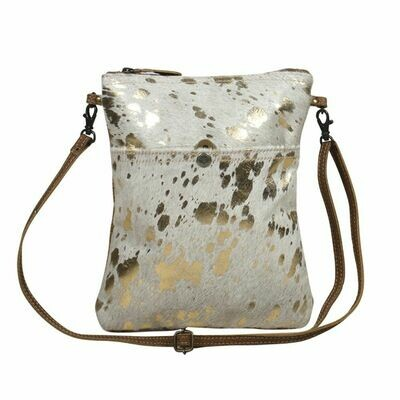 Speckled Leather Small Crossbody Bag