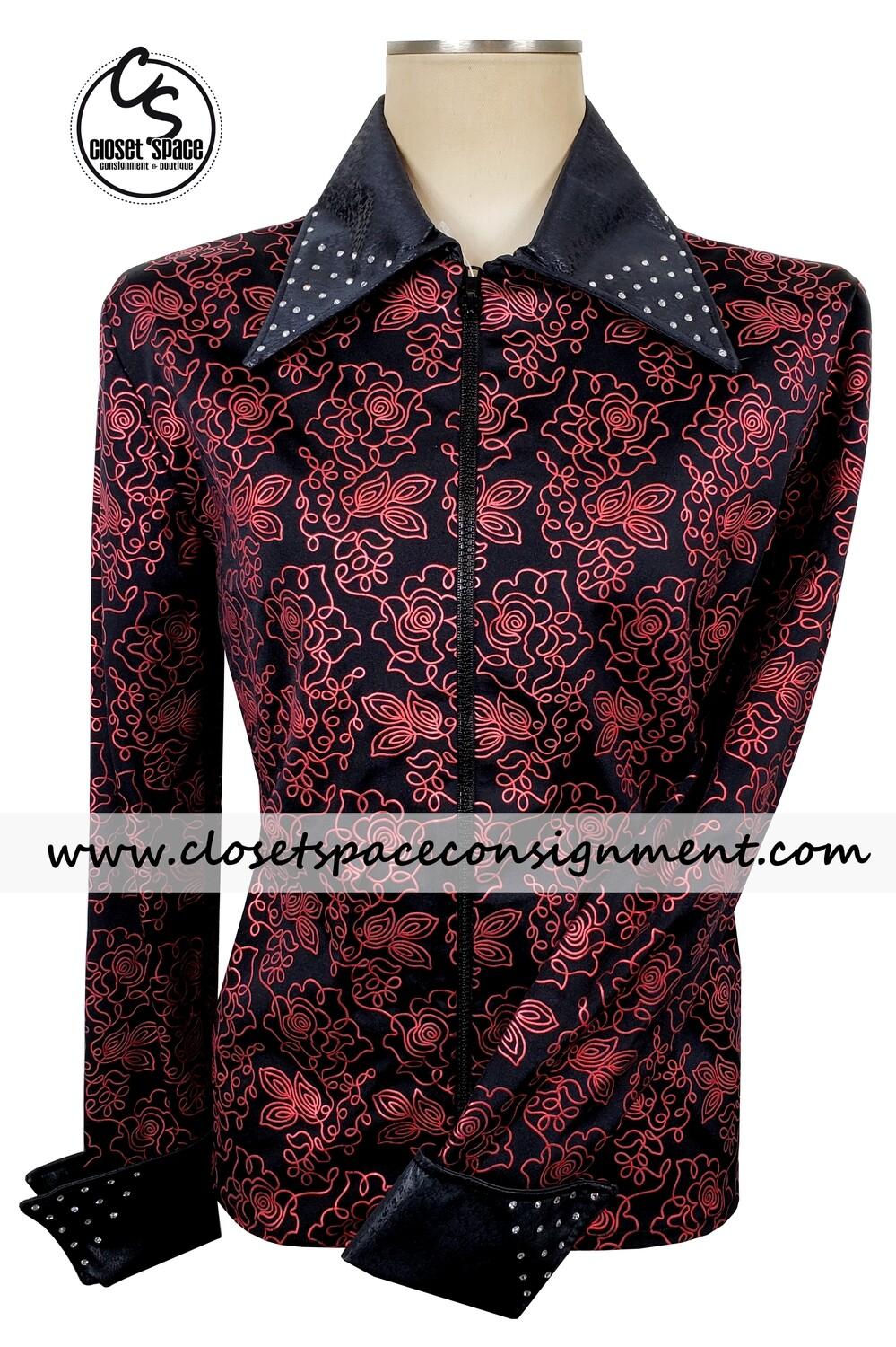 'Designs For Winners' Black & Red Floral Jacket