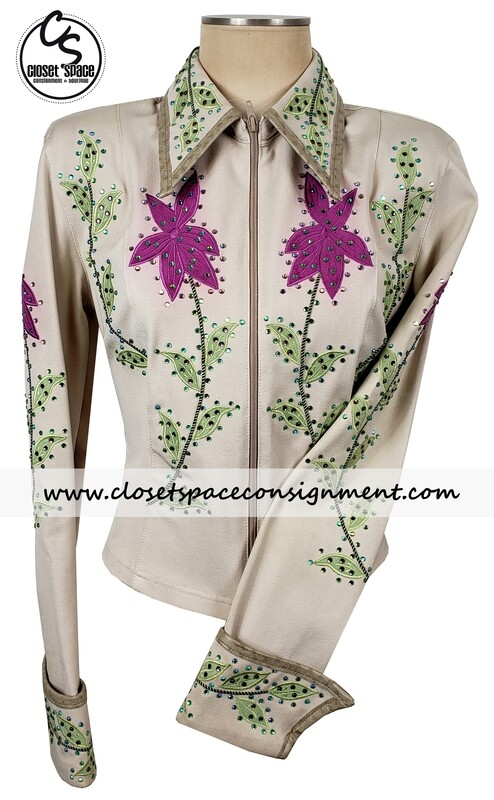 ​'Western Collection Styles' Beige Floral Shirt