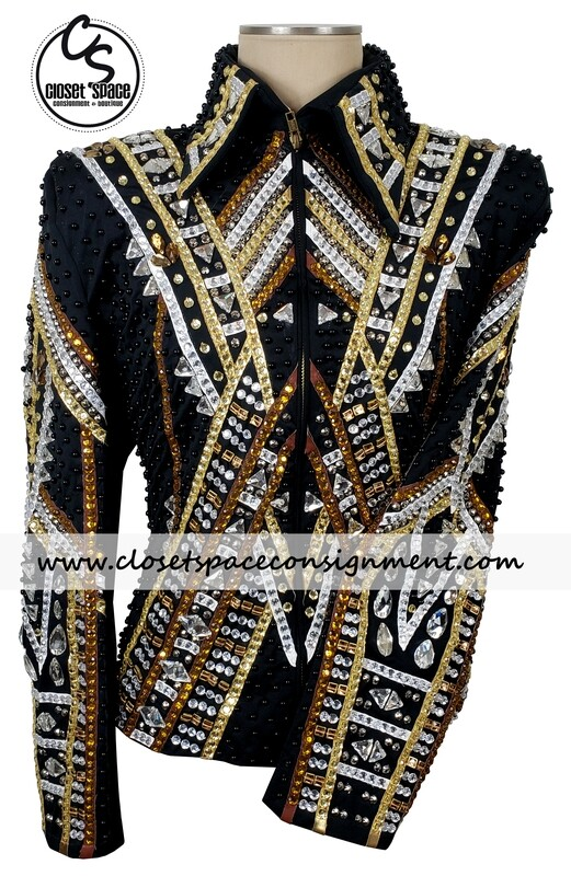 ​Black, Gold, White & Bronze Jacket - NEW