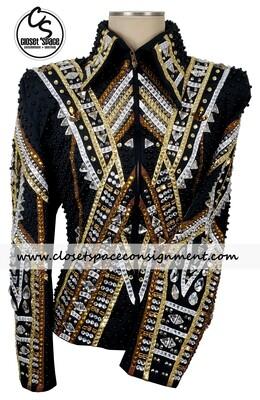 Black, Gold, White & Bronze Jacket - NEW