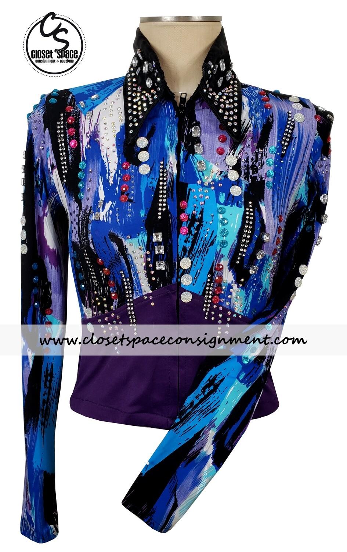 Black, Purple & Blue Shirt
