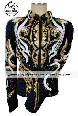 Black, White & Gold Jacket