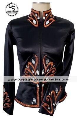 'Kevin Garcia' Black & Rust Jacket