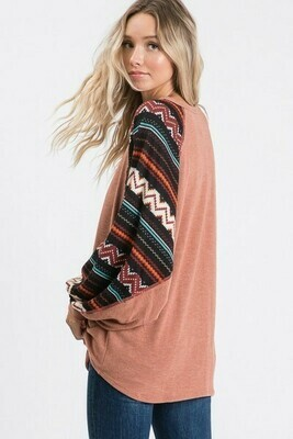 Marsala Bishop Sleeve Sweater