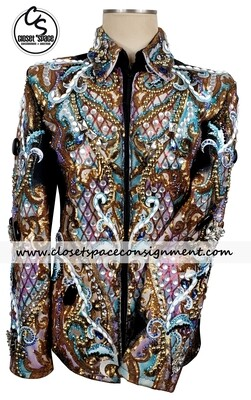 'TSW' Black, Gold & Multi Colored Jacket
