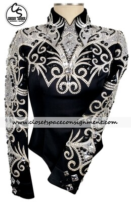 ​'Lindsey James' Black, White & Gray Horsemanship Top