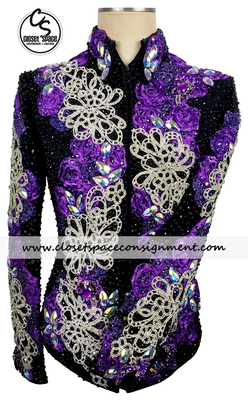 ​'Trudy' Black, Purple & Silver Jacket