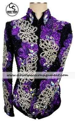 'Trudy' Black, Purple & Silver Jacket