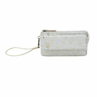 Golden Streak Leather Hairon Wallet