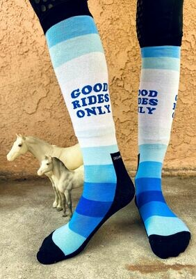 'Good Rides Only' - Blue Knit