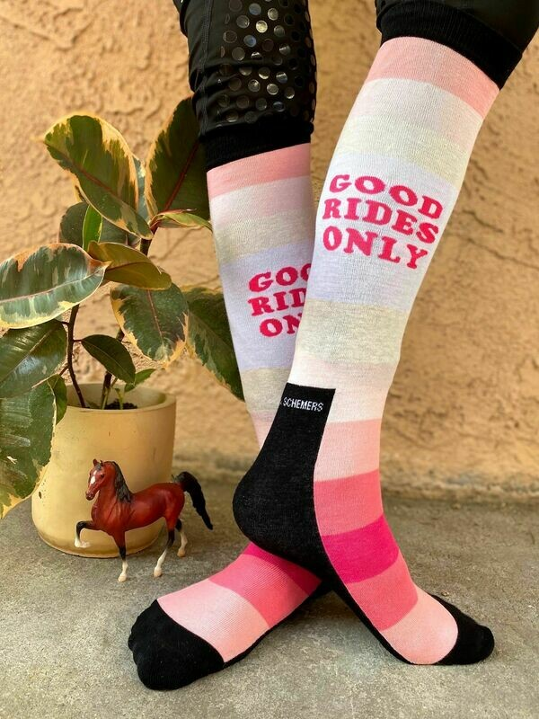 'Good Rides Only' - Pink Knit