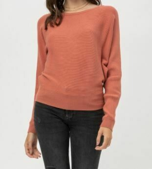 Terra Cotta Dolman Sleeve Sweater