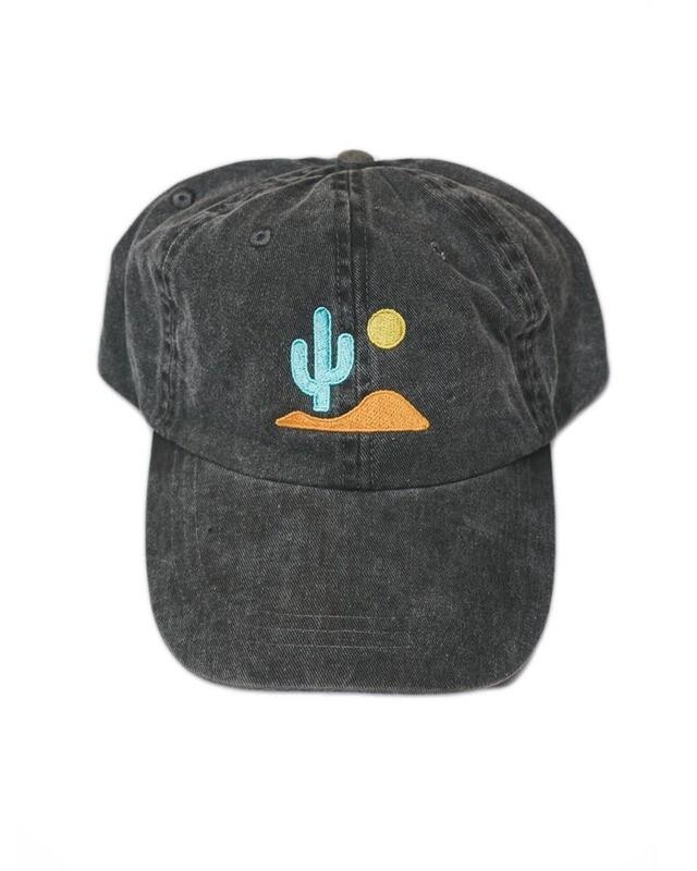 Lone Cactus Hat - Faded Black