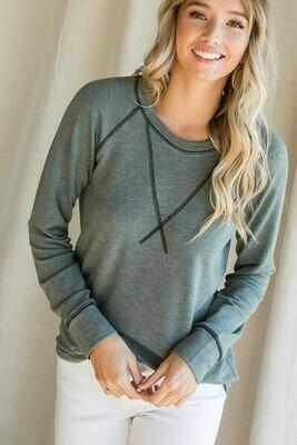 Olive Crew Sweatshirt
