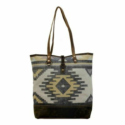Yellow Patchy Tote Bag