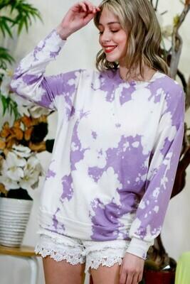 Purple & White Crew Sweatshirt