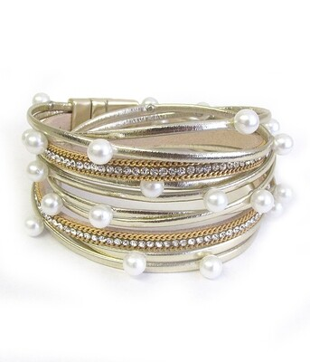 Gold & Pearl Multi Layer Wrap Magnet