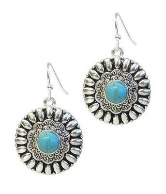 Navajo Silver & Turquoise Earring