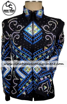 'LM Expectations' Black, Blue & Silver Jacket