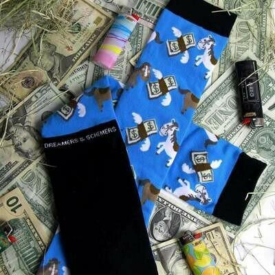 Cash Money Knit Socks