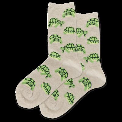 Natural Turtles Crew Socks