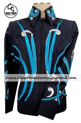 Black & Turquoise Jacket