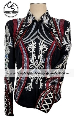 'Dawn Haas Myers' Black, Red, Gray & White Jacket