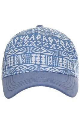 Denim Aztec Cap