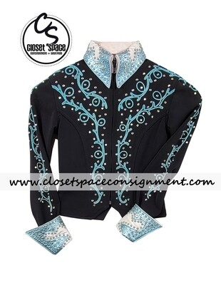 'Connie's' Black, Teal & White Jacket